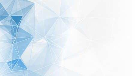Photo for abstract blue white geometrical web background - Royalty Free Image