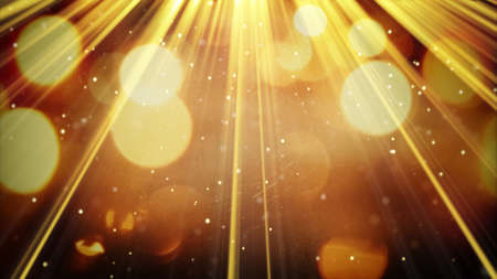 Foto per golden light rays and particles. computer generated abstract background - Immagine Royalty Free