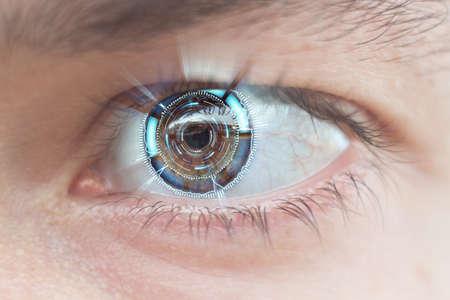 Photo pour close-up of cyber eye shallow DOF - image libre de droit