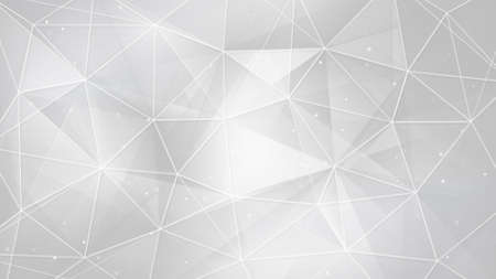 Photo pour white triangles and lines. computer generated abstract geometrical background - image libre de droit