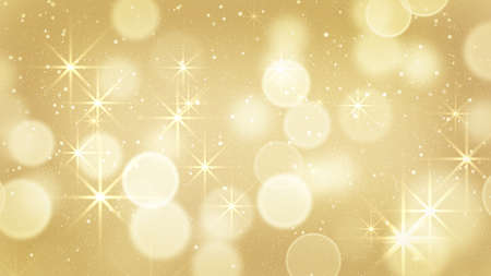Photo pour golden bokeh light and stars. Computer generated abstract background - image libre de droit