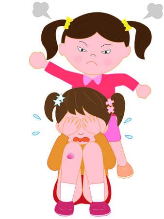 Illustration for Children's bullying problem - Royalty Free Image