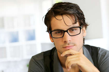 Photo for Portrait of handsome young man with glasses - Royalty Free Image