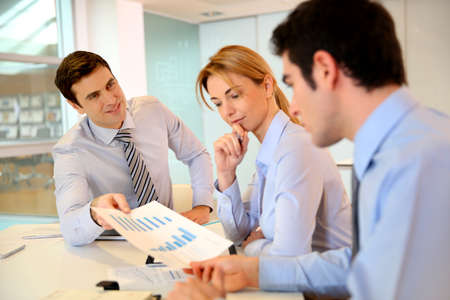 Sales director presenting business plan to team