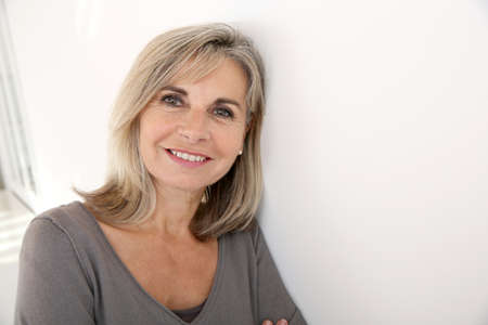 Photo for Portrait of smiling senior woman - Royalty Free Image
