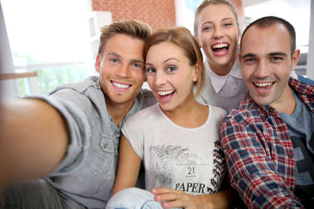 Photo for Group of friends taking picture of themselves - Royalty Free Image