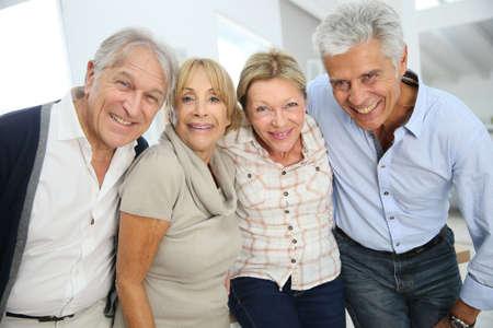 Photo pour Group of happy active senior people - image libre de droit