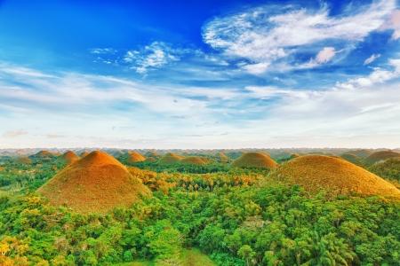 Photo pour View of The Chocolate Hills. Bohol, Philippines - image libre de droit