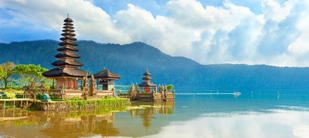 Photo for Pura Ulun Danu temple on a lake Beratan. Bali - Royalty Free Image