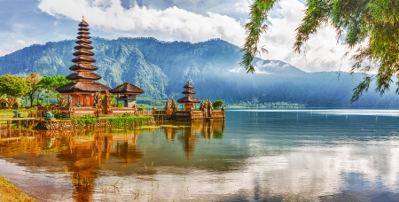 Photo for Pura Ulun Danu temple on a lake Beratan  Bali - Royalty Free Image