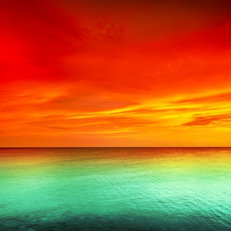 Photo for Beautiful sunset over the sea - Royalty Free Image