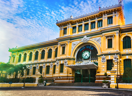 Photo for Saigon Central Post Office in the downtown Ho Chi Minh City, Vietnam - Royalty Free Image