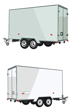 Illustration pour Trailer collections of transport - image libre de droit
