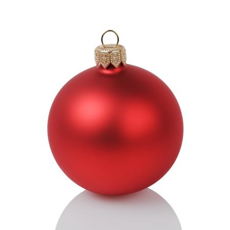 Foto de red christmas ball isolated on white background - Imagen libre de derechos