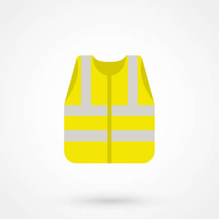 Illustration pour Yellow waistcoat safety - image libre de droit