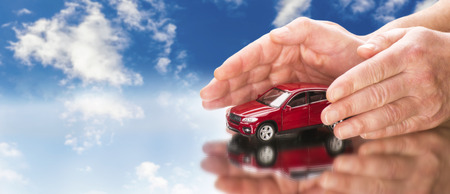 Photo for Car with hands and blue sky in background - Royalty Free Image