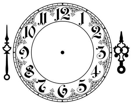 Illustrazione per vintage clock - Immagini Royalty Free