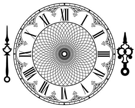 Ilustración de vintage clock - Imagen libre de derechos