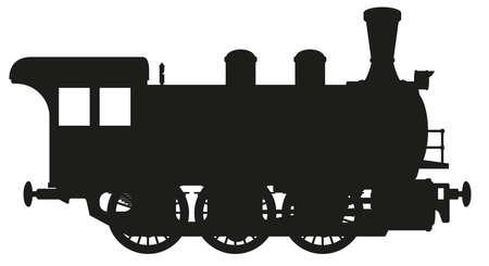 Illustration pour steam locomotive - image libre de droit