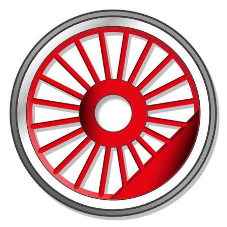 Ilustración de wheel of steam locomotive - Imagen libre de derechos