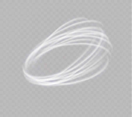 Illustration pour A glowing tornado. Rotating wind. Beautiful wind effect. Isolated on a transparent background. Vector illustration - image libre de droit