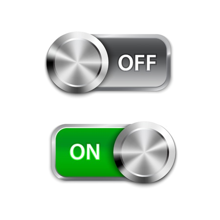 Illustration pour Toggle Switch On and Off position, On/Off sliders. - image libre de droit