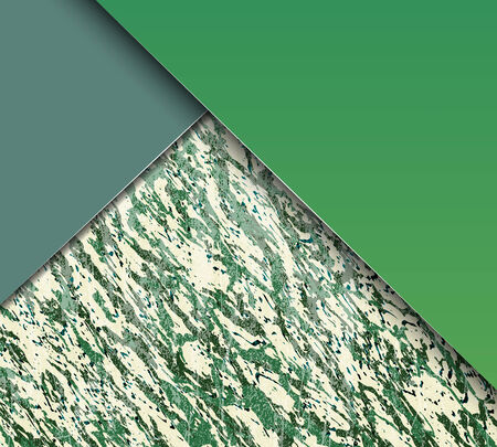 Illustration pour Abstract green and blue shiny marble texture with copy space. Vector illustration - image libre de droit