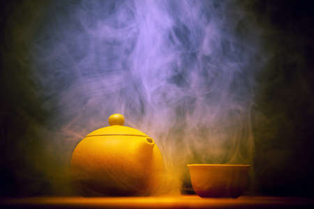 Foto de hot Chinese tea studio Smoke Texture - Imagen libre de derechos