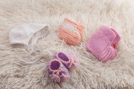 Foto für newborn baby wool clothes - Lizenzfreies Bild