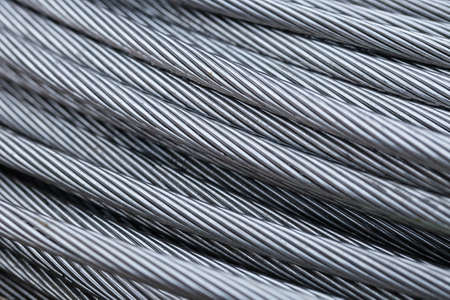 Foto de Closse up steel wire rope cable background - Imagen libre de derechos