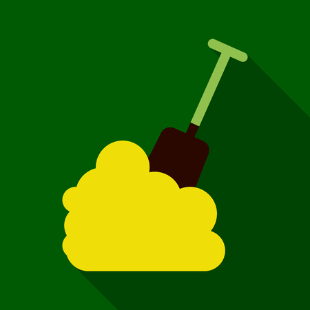 Illustration pour Flat Icon with shadow snow and shovel - image libre de droit