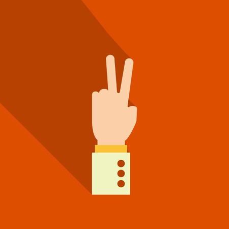Illustration pour Hand gestures with shadow. - image libre de droit