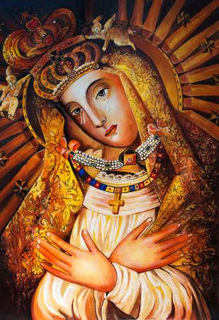 Foto de The Icon of the Mother of God of Ostrobram. - Imagen libre de derechos