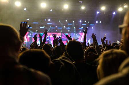 Photo pour christian music concert and worship - image libre de droit