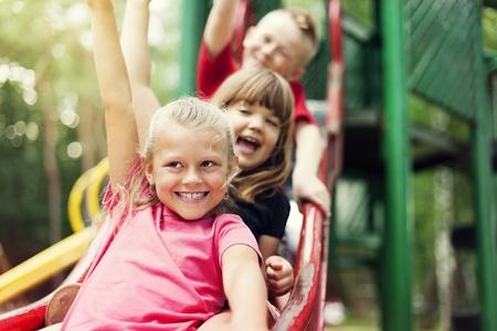 Photo for Children on slide - Royalty Free Image