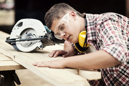 Photo for Carpenter working - Royalty Free Image