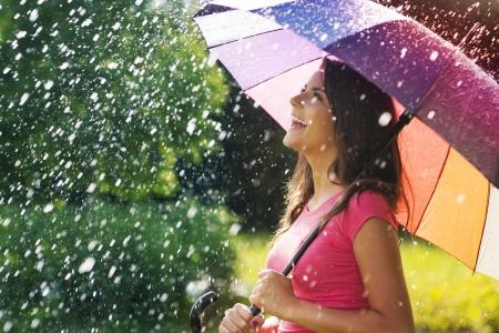 Foto de So much fun from summer rain  - Imagen libre de derechos