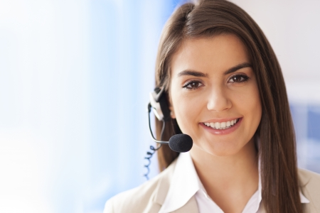 Photo for Portrait of female worker customer service - Royalty Free Image