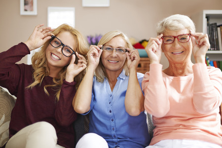Photo pour Fashion frames of glasses for each, despite of age - image libre de droit