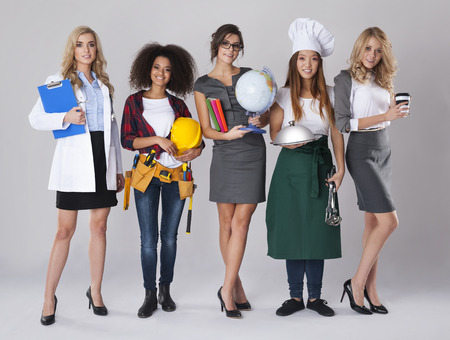 Foto de Multi ethnic group of women with various occupations - Imagen libre de derechos