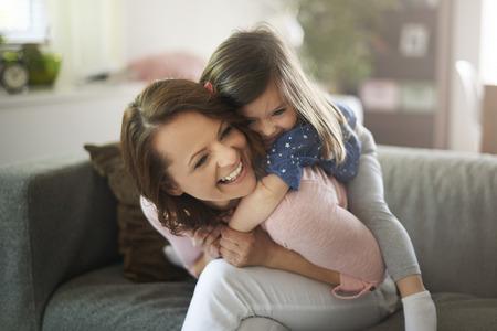 Foto de Daughter gives me so much happiness - Imagen libre de derechos