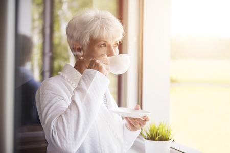 Foto de Fresh coffee tastes delicious in the morning - Imagen libre de derechos