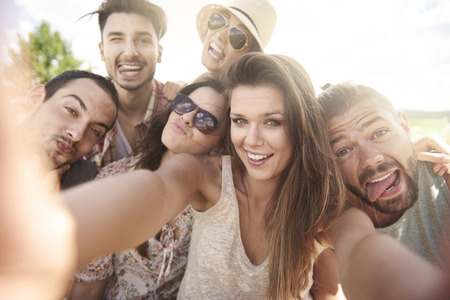 Photo for Selfie during the summer day - Royalty Free Image