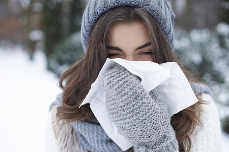 Foto de There is nothing worse than winter illness - Imagen libre de derechos