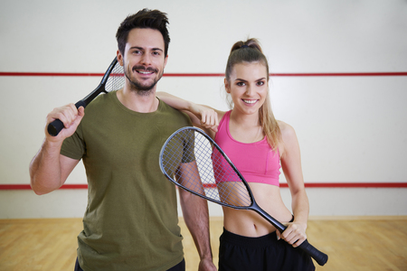 Photo for Shot of two squash players   - Royalty Free Image