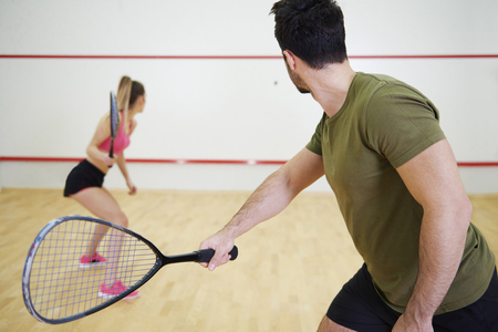 Photo for Squash is a great game to play with friend   - Royalty Free Image