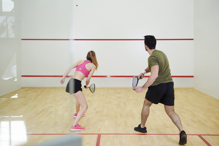 Photo for Squash players have a squash practice - Royalty Free Image
