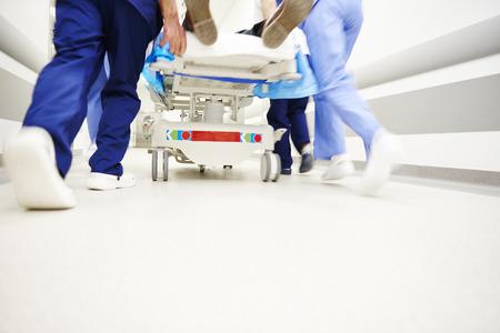 Foto de Low section of doctors running in a hurry - Imagen libre de derechos