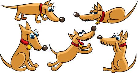 Ilustración de Happy dog cartoon playing - Imagen libre de derechos