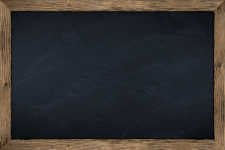 Photo for empty chalkboard with wooden frame - Royalty Free Image